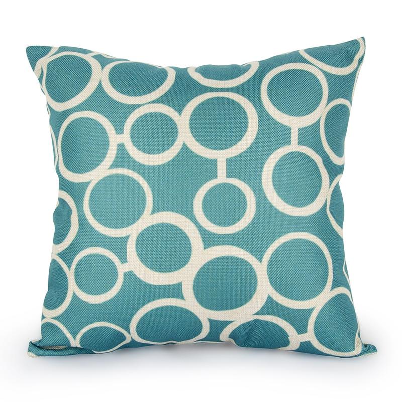 Quatrefoil Turquoise Pillow Case Decorative Pillows Linen Cushion Cover Home Decor Geometric Throw Pillows Scandinavian Cusion