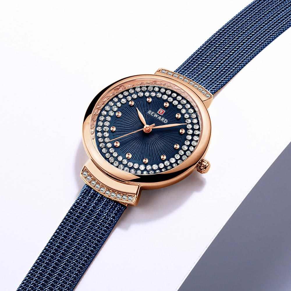 Relojes de lujo de marca de lujo para mujer, reloj Casual de moda, reloj de cuarzo con diamantes, pulsera para mujer, relojes de pulsera para mujer