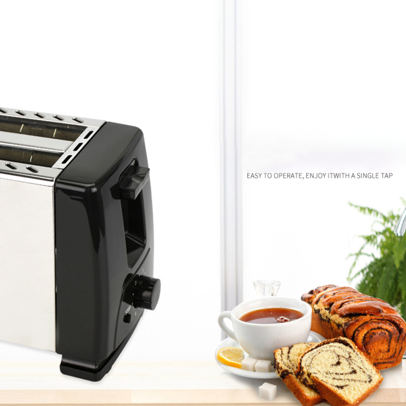 Automatic Toaster Toaster With 2X Wide Width Slits For Up To 4X Discs 6X Silk Steps With Hot Roll For Croissants Bagels Eu in Bread Makers from Home Appliances