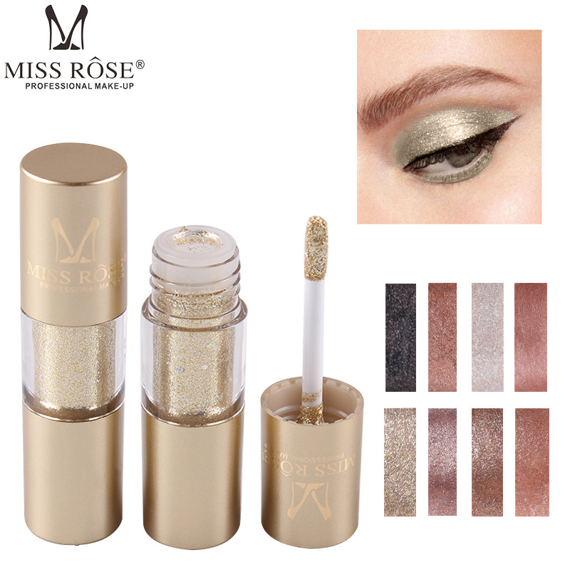 MISS ROSE 8 Colors Makeup Glitter Shining Eyeshadow Metal Liquid  Eye Shadow Single Color Nude Make Up Pigment Cosmetics TSLM2