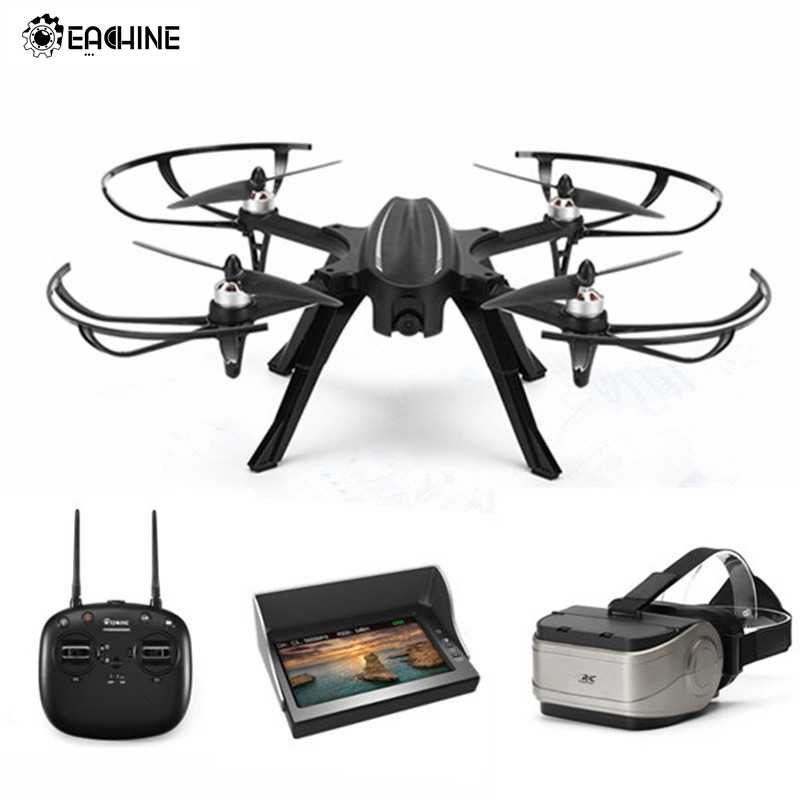 Eachine EX2H Brushless 5.8G FPV Com 720P HD Camera Espera Alititude RC Drone Quadcopter RTF W/LED black/White 3D Modelos Caindo