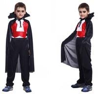 Top Pants Cloak False Tooth Boy Bloodsucker Halloween Cosplay Children S Masquerade For Party Vampire Knight