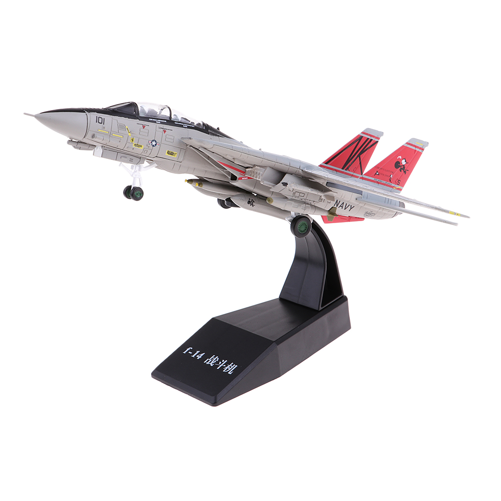 1/100 Scale USA Navy F-14 Fighter Diecast Aircraft Airplane Plane Model Toy
