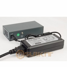DSLRKIT 250M 6 포트 4 PoE 스위치 인젝터 Power Over Ethernet 75W max.90W, 52V 1.85A 전원 어댑터 포함