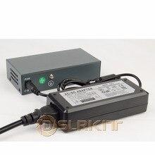 DSLRKIT 250M 6 portów 4 przełącznik PoE zasilanie wtryskiwacza przez Ethernet 75W maks. 90W z zasilaczem 52V 1,85a