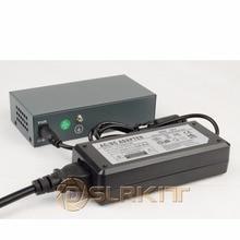 Dslrkit 250 メートル 6 ポート 4 poe スイッチインジェクタパワーオーバーイーサネット 75 ワットで max.90W 52 v 1.85A 電源アダプタ