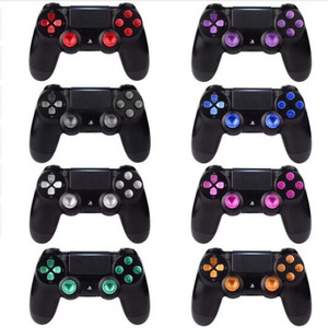 Image 1 - Metallo Joystick Analogico ThumbStick Grip Tappi + Dpad Action D Pad Bottoni per Sony Playstation Dualshock 4 PS4 DS4 gamepad Controller