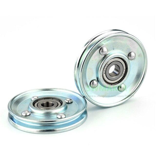 SWMAKER 1pcs U 10*66*11mm 66mm elevator door metal hanging wheel, groove V slot U roller, wire rope wheel, 6200 bearing