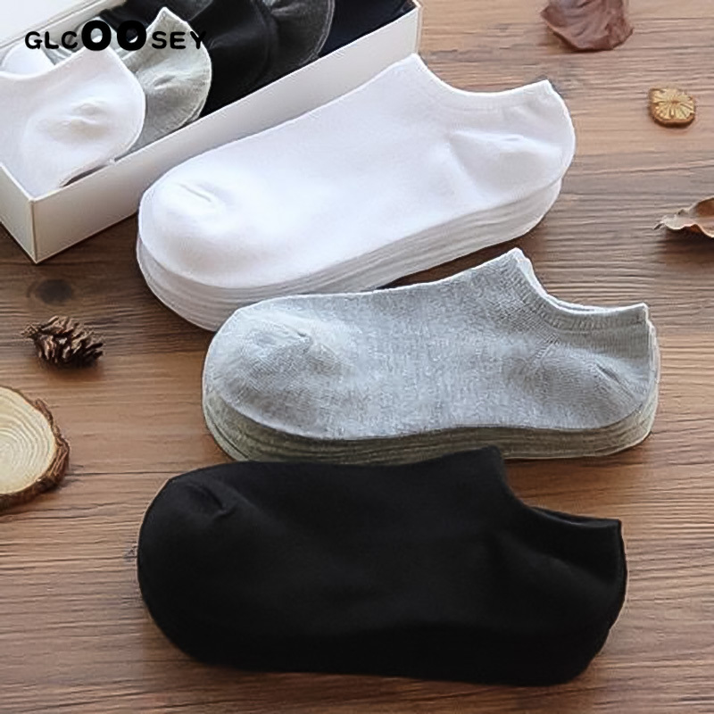 3 Pairs/lot Man   socks   cotton Black White Gray Color Men's Ankle   Socks   Summer Short Boat   Socks   Shallow Mouth Male Wholesale price