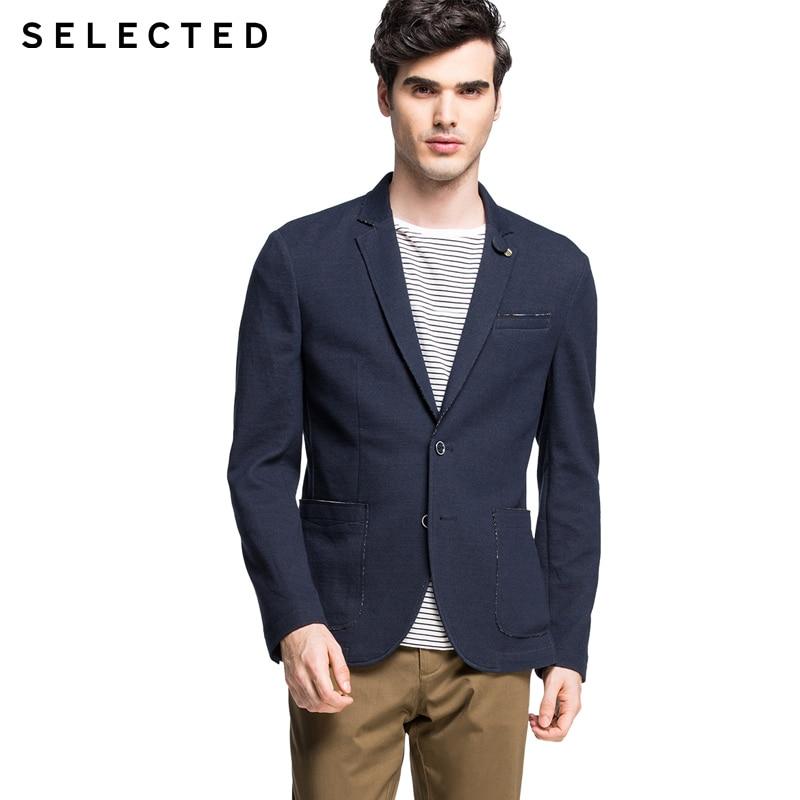Seleccionados marca slim fit moda estilo simple de estilo occidental Chaqueta Hombre   415308009  