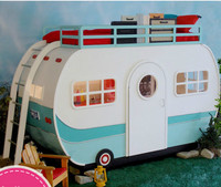 Специальный дизайн для детской спальни из массива дерева детская двухслойная автомобильная кровать