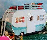Твердой древесины Детская кроватка автомобиль