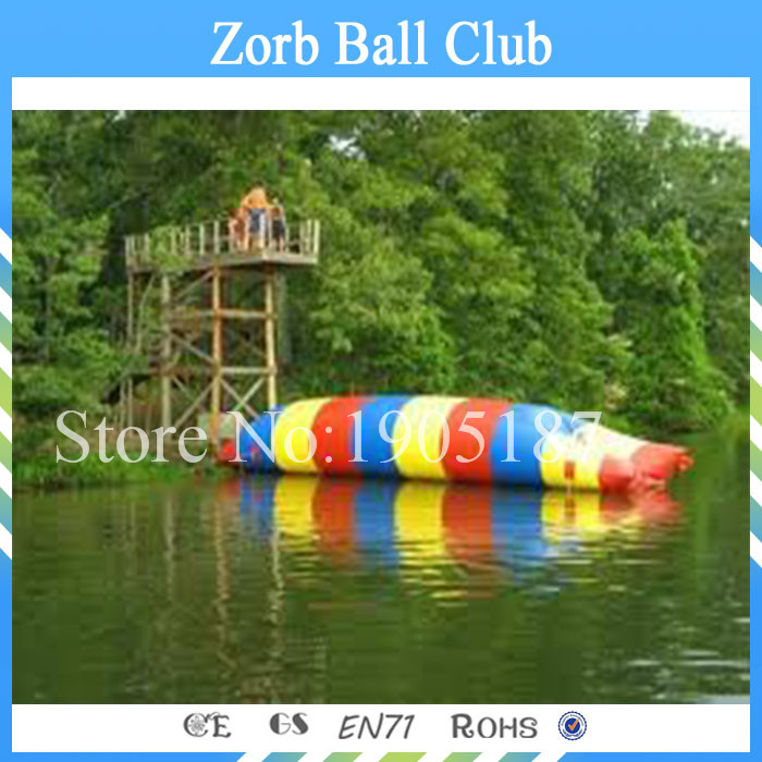 Free Shipping Good Quality 7X3m Inflatable Water Jump Blob With Nice Factory Price 7 3 6m inflatable water slide with free ce pump and repair kit