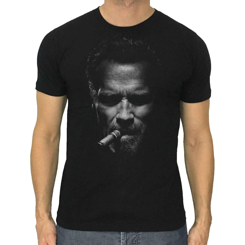 Arnold Schwarzenegger t-shirt baru pria cigar Kebugaran binaraga kemeja S to3XL Lengan Pria T shirt Mode