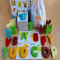 wooden toys, montessori teaching AIDS, children's educational toys, intelligence letter puzzles, cognitive alphabet