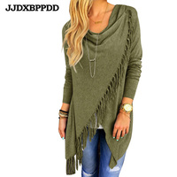 SMDPPWDBB Women Cardigan Autumn Long Sleeve Irregular Long Female Grey Thin Sweater Casual Maternity Coat Slim