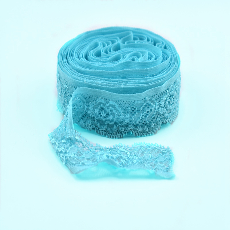 5 10yards Lot Elastic lace trim Embroidery 24mm African lace fabric white lace ribbon Sewing for DIY Dress underwear Accessories in Lace from Home Garden