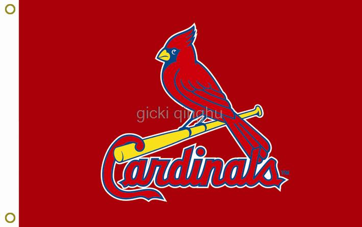 St. Louis Cardinals MLB Flag hot sell goods 3X5FT 90x150cm Sport Outdoor Banner brass metal holes Custom flag,free shipping