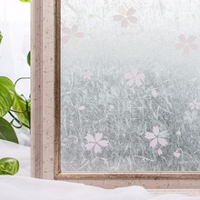 CottonColors Window Films No-Glue 3D Static Decorative Privacy Colorful PVC Waterproof Window Stickers 3Ft X 6.5Ft 90 x 200cm
