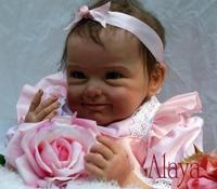 22 Baby Reborn девушка кукла ручной работы Кукла Мягкая Силиконовая Винил розовая юбка реалистичные Boneca Reborn Детские игрушки для дети