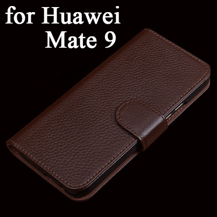 Top Grade 100% Real Genuine Leather Case for Huawei Mate 9 Magnet Flip Phone Leather Protective Skin Cover for Mate9