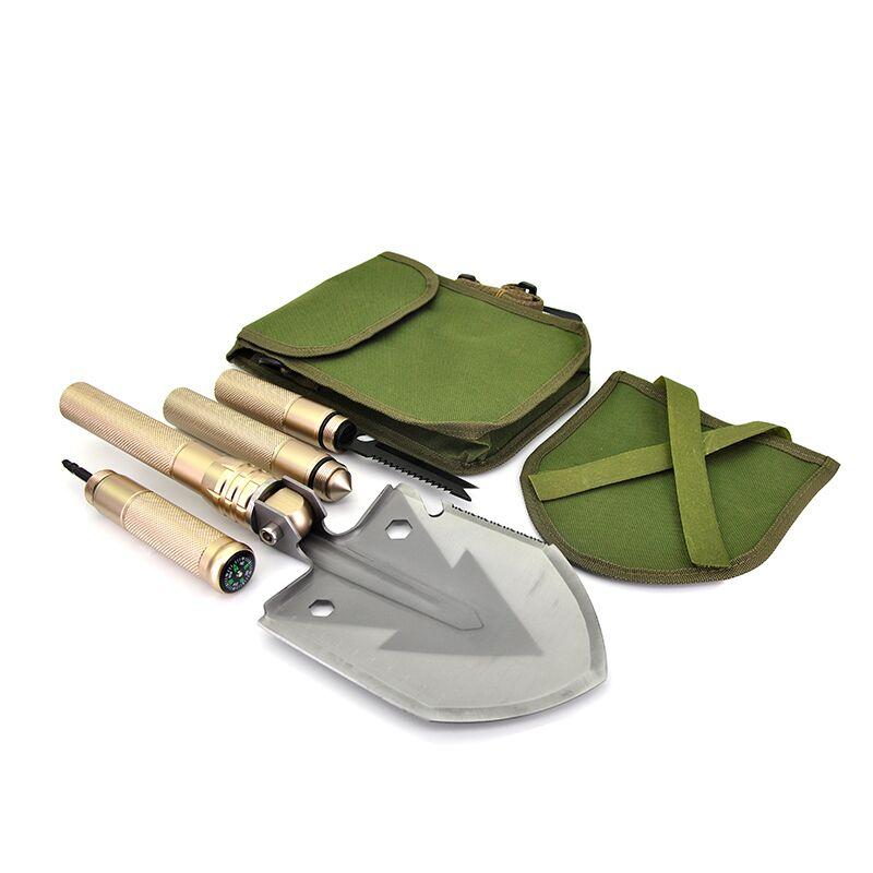 Military Shovel Folding Portable Camping Tactical Survival Shovel Multifunctional Knife Outdoor Garden Hand Tools Screwdriver