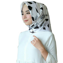 ZOGAA 90cm large towel satin face simulation silk scarf tinted turban Muslim spot Print Fashion hijab