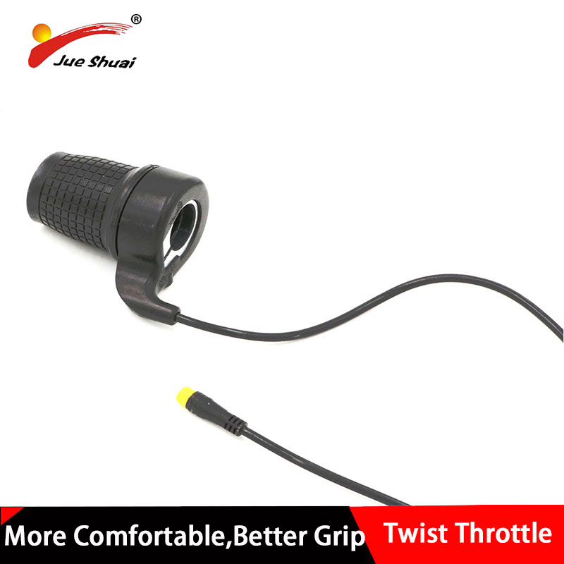 Electric Bicycle Twist Throttle Grip E Bike 36v 48v 24v Battery 3Pin Wiring Loom
