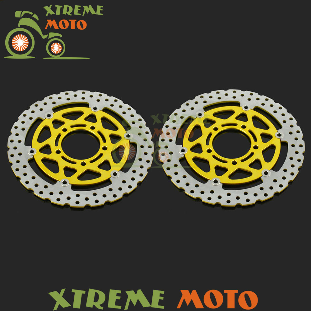 Gold Front Floating Brake Disc Rotor For ZX6R ER-6F EN-6N Versys 650 1000 Z750R Z1000 ZX10R ZX636 ZX600N Motorcycle Motocross