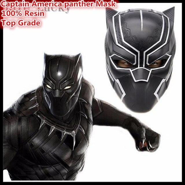 29ab4bf311e2a Frete grátis Capitão América Filme Pantera Negra Capacete Réplica Guerra  Civil COSplay Máscara Cabeça Cheia Halloween