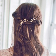 AIWGX New Girls Individuality Exaggeration Silver/gold Antler Hair Clips Hairpins Hair wear Accessories Fashion Jewelry