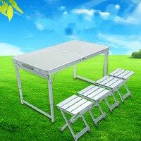 Дикий стол уличные столы и стулья комбинации алюминиевые складные столы и стулья портативный стол барбекю LM01111150