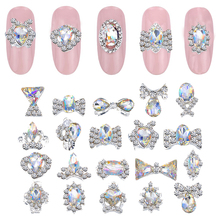 100 Pcs/Bag Nail Art Alloy Crystal Gem Glitter K9 Rhinestones Glass Stone Rhinestone 3D Decorat