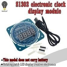 DS1302 Rotating Digital LED Display Module Alarm Electronic Digital Clock LED Te