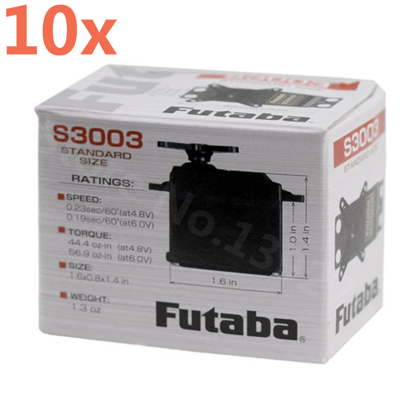 10pcs Orginal Futaba S3003 Standard Steering Gear Box Of S3003 Servo Steering Remote Control Model For JR RC Robot Car Plane futaba jr remote control waterproof protective bag