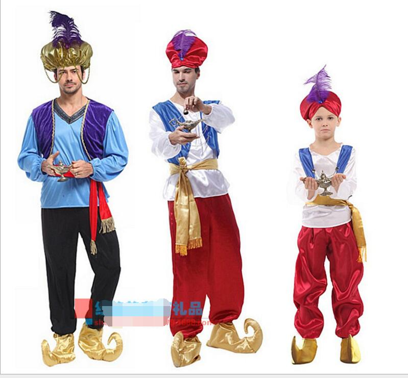 Adult Children halloween party aladdin costumes Aladdin L& genie costume Adam prince Fantasia Boy Party Arab Clothing kid-in Boys Costumes from Novelty ...  sc 1 st  AliExpress.com & Adult Children halloween party aladdin costumes Aladdin Lamp genie ...