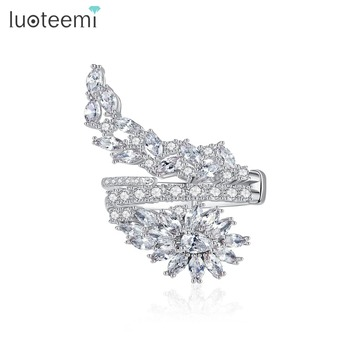 LUOTEEMI Exquisite Adjustable Open Ring for Women Party & Dating Luxury CZ Twisty Irregular Unique Famale Anillos Christmas Gift 1