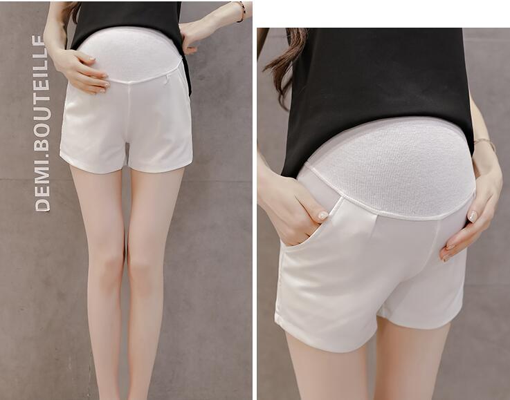 Лидер продаж, летние шорты для беременных женщин, хлопковые Лоскутные кружевные шорты с высокой талией, шорты для беременных, милые короткие штаны - Цвет: 932a
