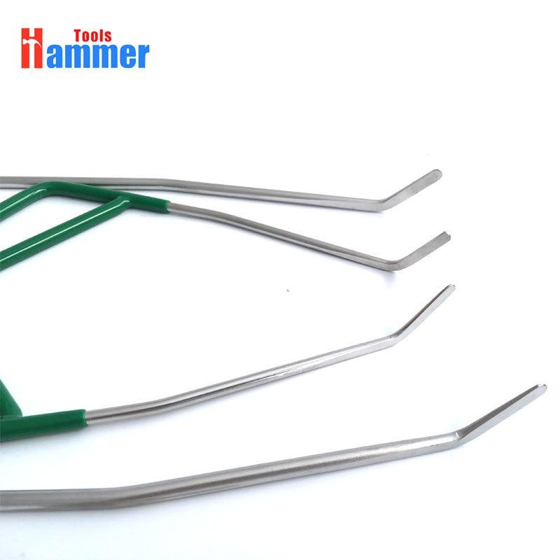 4pcs PDR KING Rod Dent Repair Tool Car Ding Dent Repair Rod Hook Paintless Hail Removal Tool