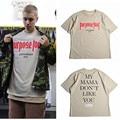 Justin Bieber Purpose Tour T-shirt Men Fear Of God Letter Print Casual Hip Hop Tshirt 2016 Summer Mens Tee Clothes Homme US Size