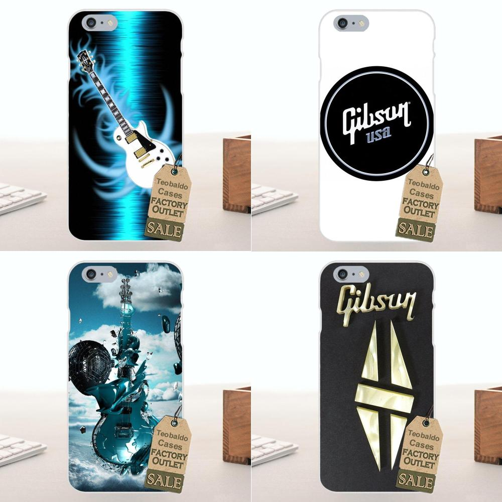 d7979ea51c2 Gibson Soft TPU Cell Phone Case For Apple iPhone 4 4S 5 5C SE 6 6 S 7 8  Plus X