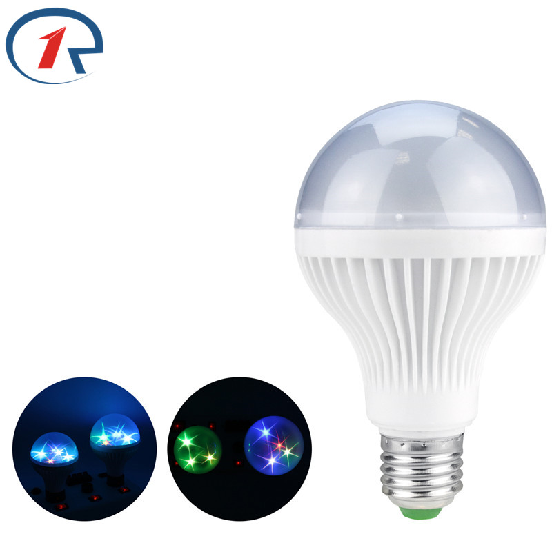 ZjRight E27 LED RGB Lighting Bulb star sky lamps Auto Strobe holiday Disco DJ birthday Xmas indoor Party baby gifts night lights