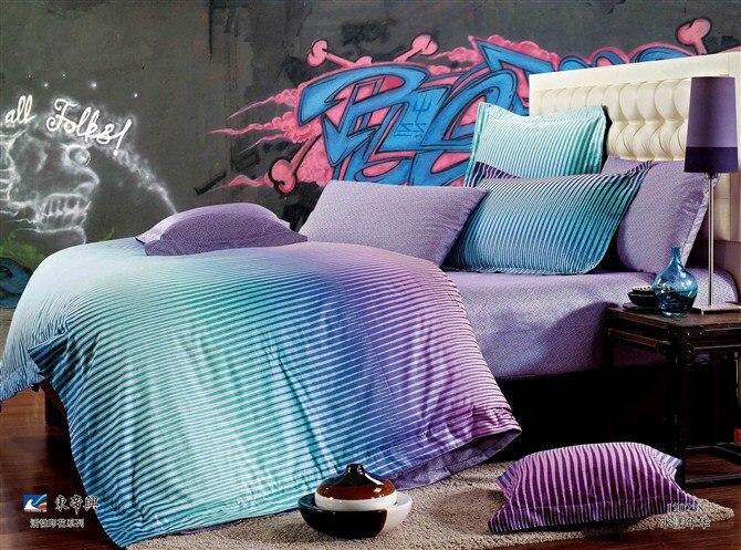 2013 Fashion Newest Style Blue Purple Gradient Stripes 100