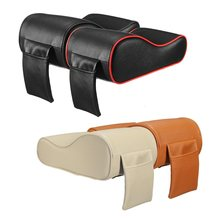 Luxury PU Leather font b Car b font SUV Center Box Armrest Cushion Console Soft Pad