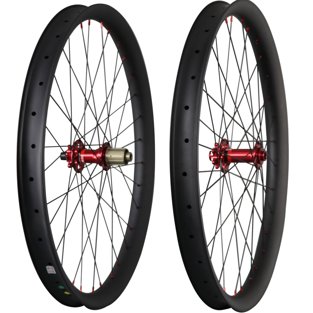 Boost 650B plus mountain carbon wheels 27.5+ mtb bicycle wheelset 50mm width clincher hookless ready Chinese ICAN brand light bicycle roda mtb 29 carbon rear wheels