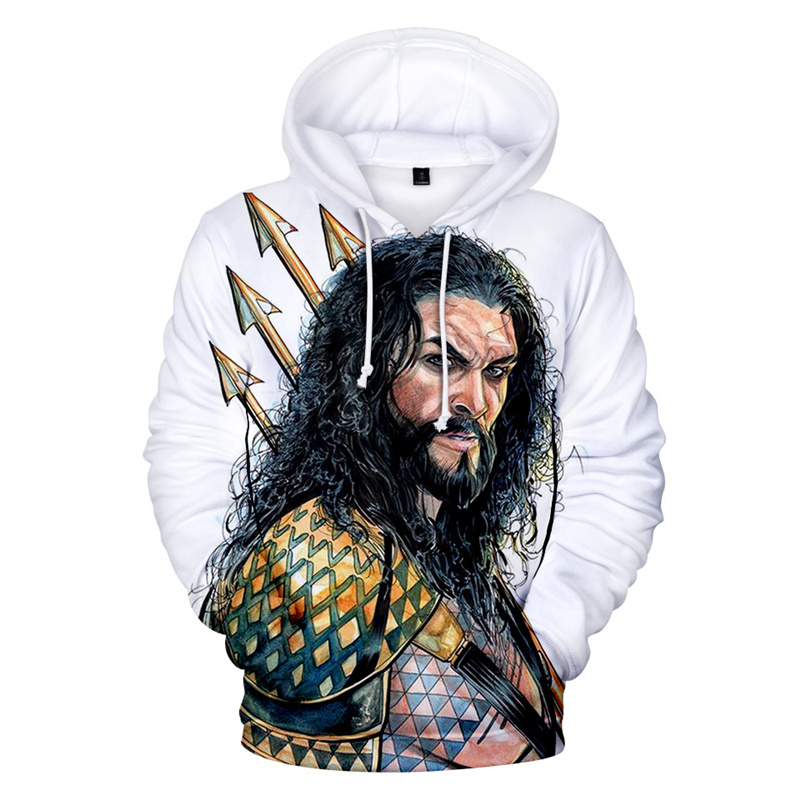2019 Hot Sale 3D Aquaman Hoodie Fashion Hip Hop Hoodies Men Sweatshirt 3D Fashion Sweatshirt XXS-4XL Clothing hoodie