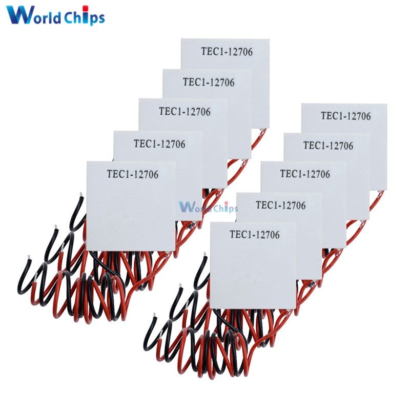 10PCS TEC1 12706 12V 6A TEC Thermoelectric Cooler Peltier TEC112706 Heatsink Plate Module (TEC1-12706)