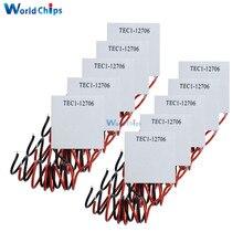 10 個TEC1 12706 12v 6A tec熱電クーラーペルチェTEC112706 ヒートシンクプレートモジュール (TEC1 12706)