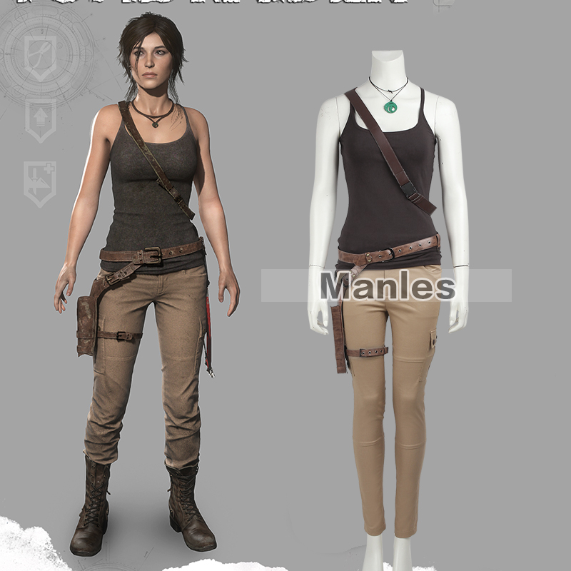 Cosplay Lara Croft Costume Tomb Raider Lara Croft Costumes Disguise Woman Female Halloween For Women Game Outfit Custom Adult Game Usb Costume Mustachecostume Girl