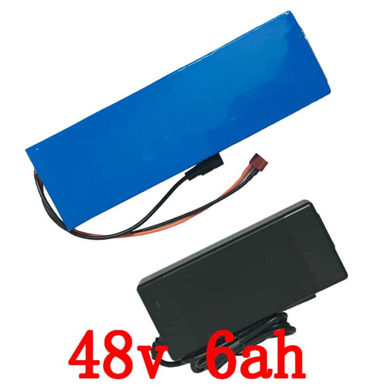 48v 6Ah 500W Ebike Lithium Battery with 54.6v 2A charger 15A BMS 48V Battery Pack Electric Bike Battery 48v Free Shipping ebike battery 48v 15ah lithium ion battery pack 48v for samsung 30b cells built in 15a bms with 2a charger free shipping duty